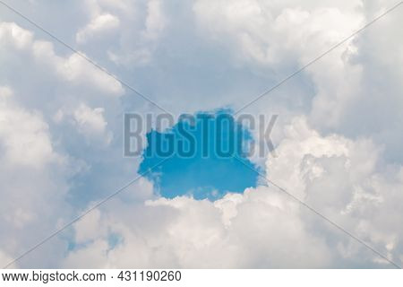 Sky, Sky Full Of Clouds With Holes