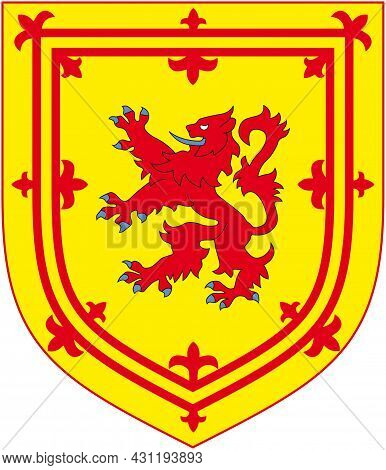 The Former Official Royal Coat Of Arms Of Scotland