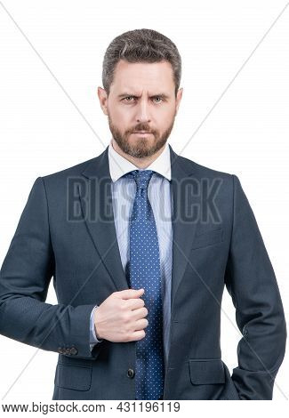 Chief Executive Officer. Ceo Isolated On White. Ceo Or Director. General Manager In Formalwear