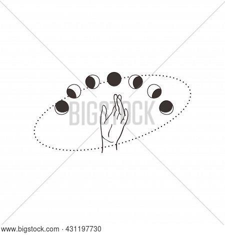 Divine Beauty Premade Logo Design. Black Wrist