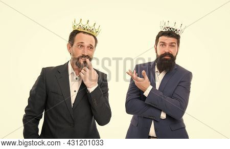 Men Competitors. Company Kingdom. Share Power And Authority. Handsome King. Business King. Businessm