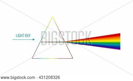 Realistic Light Dispersion With Triangular Shape Vector Illustration