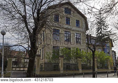 Sofia, Bulgaria -  April 24, 2021: View Of The Beautiful Old Building Of Vasil Aprilov School In The