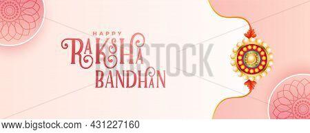 Lovely Raksha Bandhan Indian Festival Banner Design