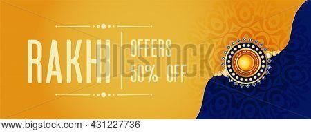 Rakhi Sale Banner For Raksha Bandhan Festival Vector Design Illustration