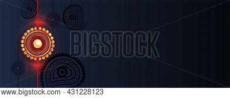 Traditional Raksha Bandhan Banner With Text Space Vector Design Illustration