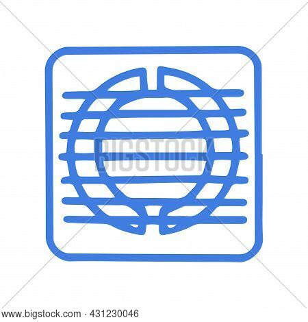 Ventilation Grill Line Vector Doodle Simple Icon