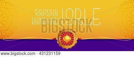 Sale Banner For Raksha Bandhan Vector Design Illustration