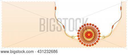 Rakhi Design For Raksha Bandhan Festival Vector Design Illustration