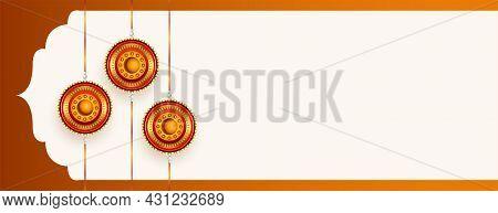 Happy Raksha Bandhan Banner With Text Space