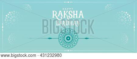 Flat Raksha Bandhan Banner With Nice Color