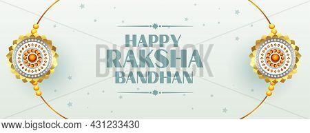 Beautiful Raksha Bandhan Traditional Banner Vector Design Illustration