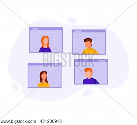 Video Conference 2 People 5 Dd Ww Isol People
