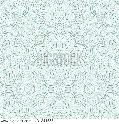 Girih Traditional Mosaic Vector Seamless Ornament. Tile Patchwork Design. Classic Majolica Pattern.