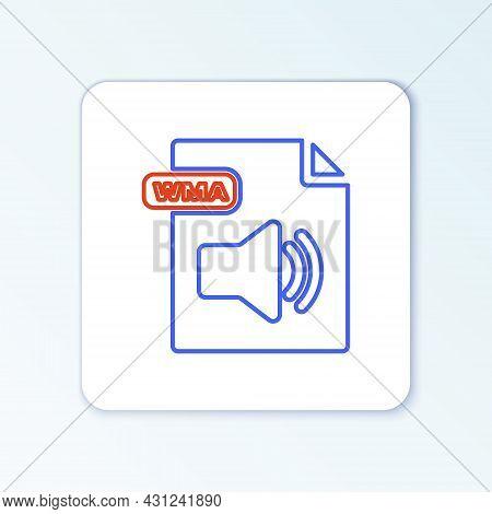 Line Wma File Document. Download Wma Button Icon Isolated On White Background. Wma File Symbol. Wma
