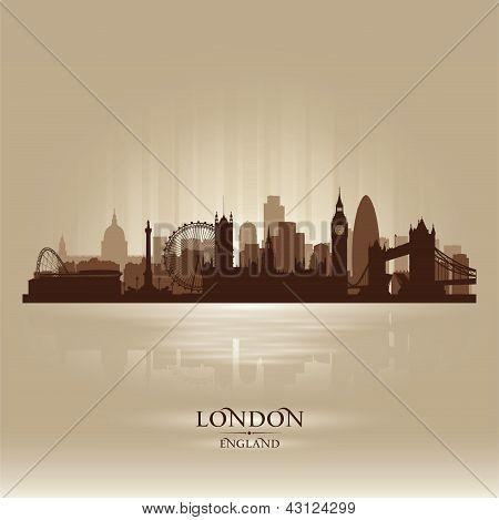 London England Skyline City Silhouette