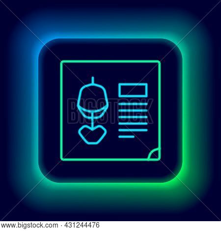 Glowing Neon Line X-ray Shots Icon Isolated On Black Background. Colorful Outline Concept. Vector