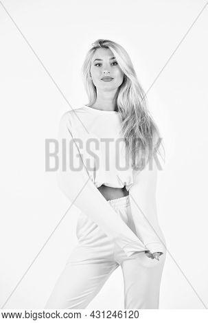 Trendy Sportswear. Sport Style. Fitness Woman Wear Sportswear. Comfy Style For Daily Life. Feel So S