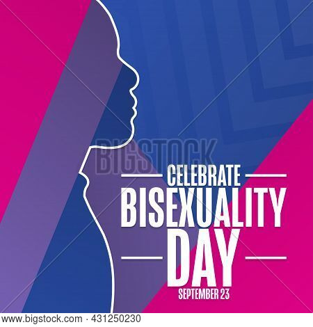 Celebrate Bisexuality Day. September 23. Holiday Concept. Template For Background, Banner, Card, Pos