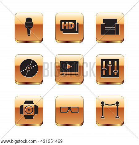 Set Microphone, Movie Spotlight, 3d Cinema Glasses, Online Play Video, Cd Or Dvd Disk, Cinema Chair,
