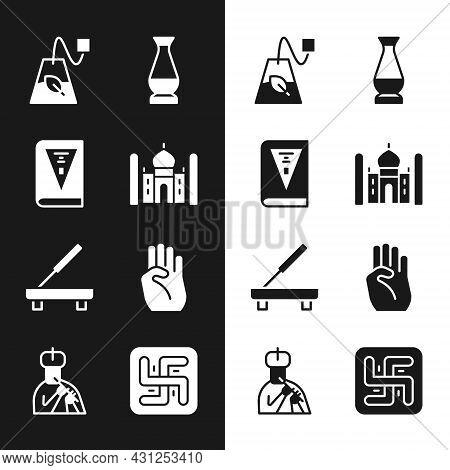 Set Taj Mahal, India Constitution Day, Tea Bag, Indian Vase, Scented Spa Stick, Symbol Hand, Hindu S