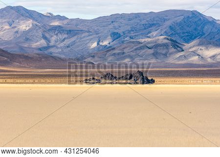 Chance Range Sits In Shadow High Above The Grandstand On The Racetrack Playa In Death Valley