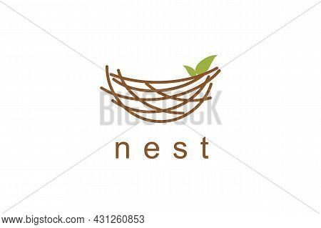 Nest Icon Isolated On White Background. Nest Icon Thin Line Outline Linear Nest Symbol For Logo, Web