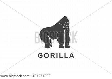 Gorilla Icon Isolated On White Background. Gorilla Icon Thin Line Outline Linear Gorilla Symbol For
