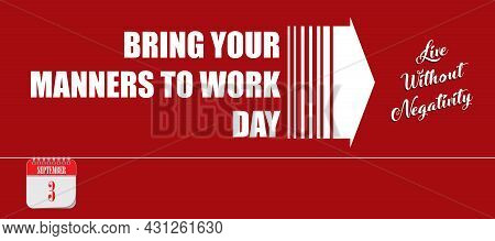 Card For Event September Day Bring Your Manners To Work Day