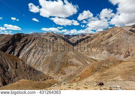 Manali-Leh road to Ladakh in Indian Himalayas. Ladakh, India