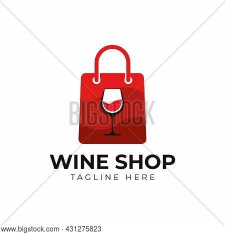Wine Shop Or Liquor Store Logo Design