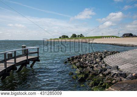 Oudeschild, Texel, Netherlands. August 13, 2021. The Harbor Head Of The Port Of Oudeschild, Texel.