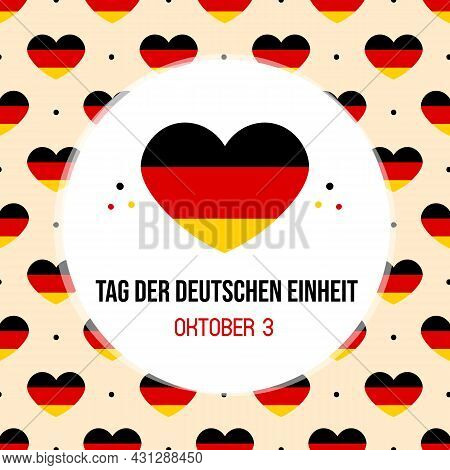 Tag Der Deutschen Einheit Translated As Translated As «german Unity Day», National German Holiday Ve