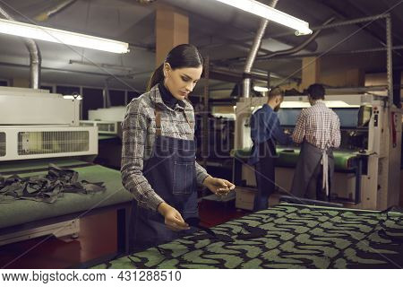 Young Female Shoemaker Woman Artisan Working At Workplace For Shoe Production