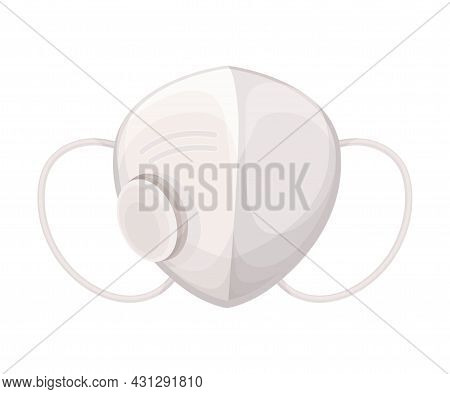 Respiratory Mask As Safety Equipment For Industrial And Construction Work Vector Illustration