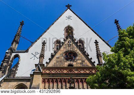 June 4, 2021 Leipzig, Germany. Thomaskirche St Thomas Church In Leipzig Germany Where Johann Sebasti