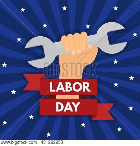 Labor Day Poster Background. Vector Illustration Eps 10