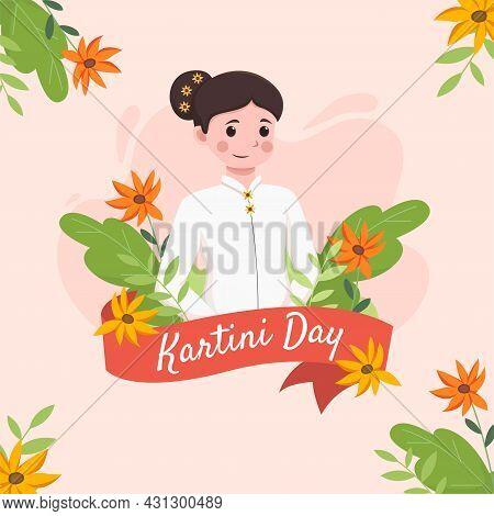 An Illustration Of The Kartini Day Celebration. Kartini Day. Vector Illustration R.a Kartini, The He