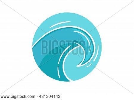 Wave Design Illustration With A Mix Of Light Blue And Dark Blue