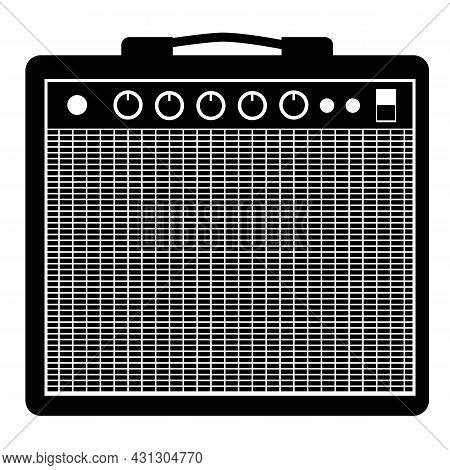 Guitar Amplifier Icon On White Background. Amplifier Sign. Guitar Amp Symbol. Flat Style.