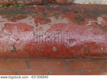 Detailed Close Up View On Aged Concrete Walls With Cracks And Lots Of Structure