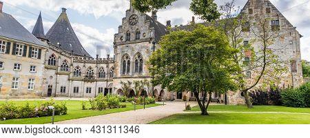 Bad Bentheim, Germany - August 25, 2021: Main Building Bentheim Castle In Nordrhine Westfalen In Ger