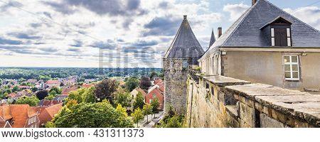 Bad Bentheim, Germany - August 25, 2021: View From Bentheim Castle In Nordrhine Westfalen In Germany