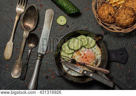 Still Life Food- Delicious Fried Eggs