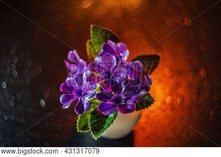 Still Life- Art Style. Flower- Creative Decoration. Blurry Focus