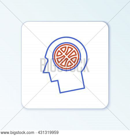 Line Planning Strategy Concept Icon Isolated On White Background. Basketball Cup Formation And Tacti