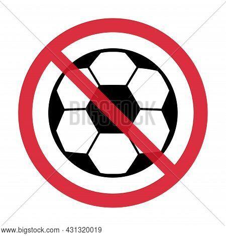Stop Soccer, Football Ball Symbol, Single Goal Isolated Design Vector Illustration, Web Game Object