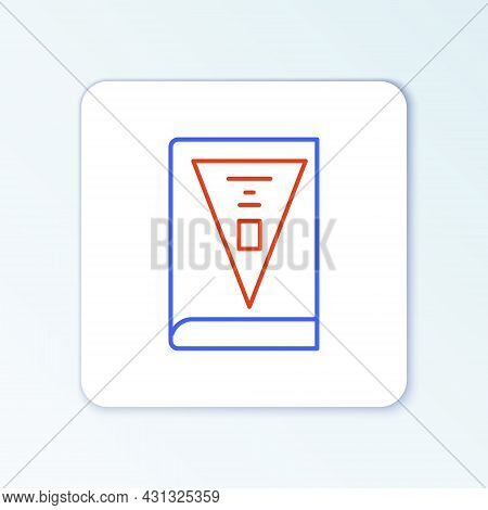 Line 26 November India Constitution Day Icon Isolated On White Background. Colorful Outline Concept.