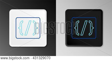 Line Programming Language Syntax Icon Isolated On Grey Background. Syntax Programming File System. C