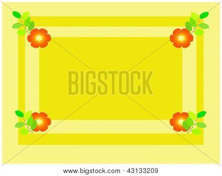 Spring yellow frame